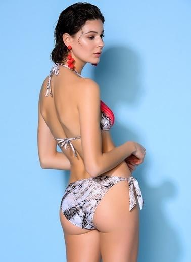 Loves You Leopar Desenli Bikini Takım Kahve